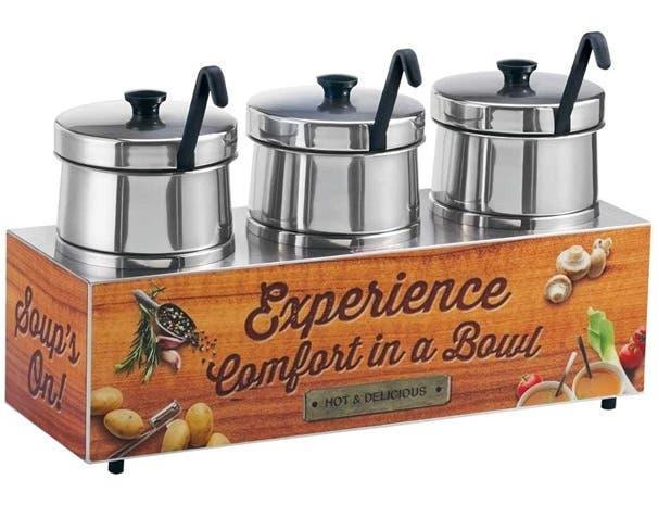 Server Triple Soup Merchandiser with 5 Quart Insets -- 1 each