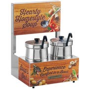 Server Twin Soup Merchandiser with 5 Quart Insets, 1000 Watts -- 1 each