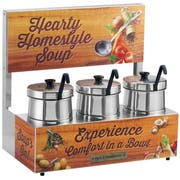 Server Triple Soup Station with 5 Quart Insets -- 1 each