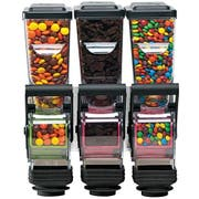 Server SlimLine Wall Mount Triple Dry Food and Candy Dispenser with Bracket, 1.4 Liter -- 1 each