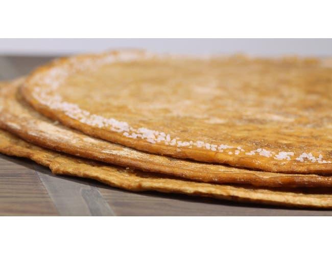 Ultra Thin Par Baked Pretzel Crust, 8 inch -- 15 per case.