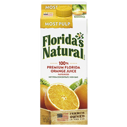 Farmers Natural Not From Concentrate Most Pulp Orange Juice, 59 Fluid Ounce -- 8 per case.