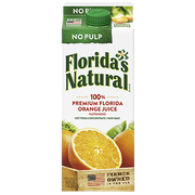 Farmers Natural Not From Concentrate No Pulp Orange Juice, 59 Fluid Ounce -- 8 per case.