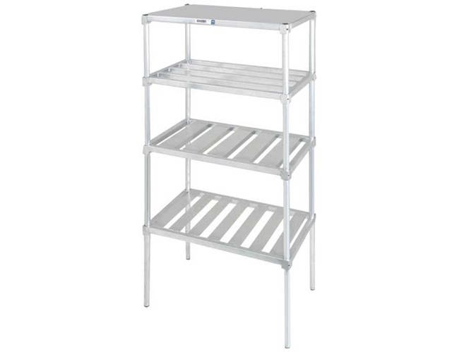 Channel Manufacturing Aluminum Adjustable Tubular Shelf, 24 x 60 inch -- 1 each.