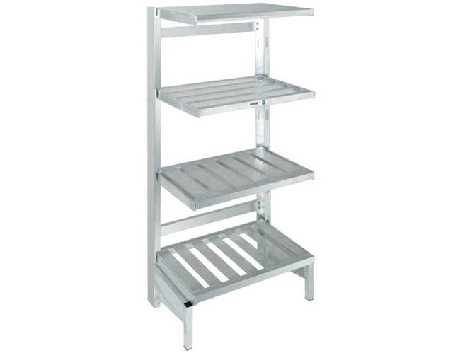 Channel Manufacturing Aluminum Cantilevered Tubular Shelf, 20 x 60 inch -- 1 each.