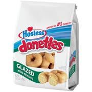 Hostess Donettes Glazed Mini Donut, 10.5 Ounce -- 6 per case.