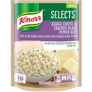 Knorr Select Asiago Cheese Cracked Black Pepper Rice Side Meal, 5.5 Ounce -- 8 per case.