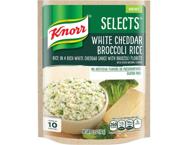 Knorr Select White Cheddar Broccoli Rice Side Meal, 5.9 Ounce -- 8 per case.