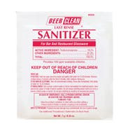 Beer Clean Last Rinse Sanitizer Powder, 0.25 Ounce -- 100 per case.