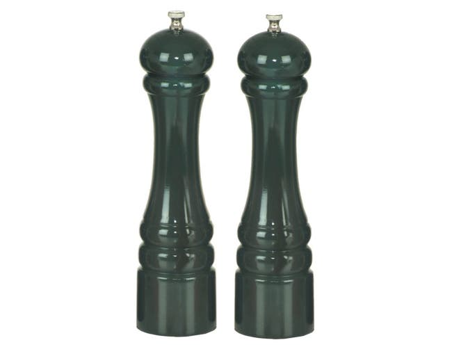Chef Specialties Forest Green Pepper Mill and Salt Mill Set, 10 inch -- 1 each.