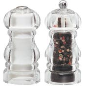 Chef Specialties Laurel Acrylic Pepper Mill and Salt Shaker Set, 5 inch -- 1 each.