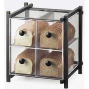 Cal Mil Black One by One 4 Drawer Acrylic Bread Case, 14 x 14.75 x 15.625 inch -- 1 each.