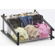 Cal Mil Black One by One Condiment Organizer, 13 x 14 x 6.5 inch -- 1 each.