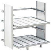 Cal Mil White Eco Modern 2 Tier Dispenser, 14 x 11.5 x 15 inch -- 1 each.