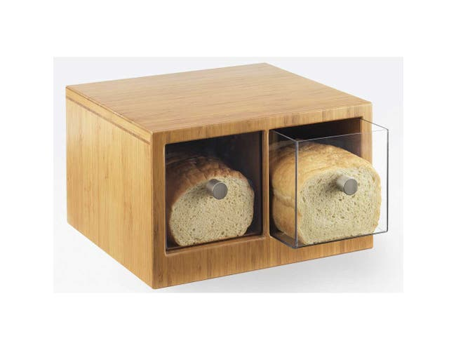 Cal Mil Bamboo 2 Drawer Bread Case, 14 x 13.5 x 5.625 inch -- 1 each.