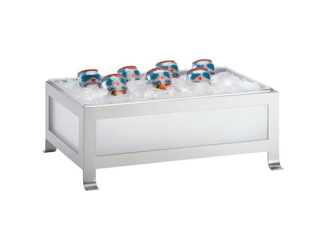 Cal Mil Silver Frost Soho Ice Housing, 21 x 12 x 8.25 inch -- 1 each.