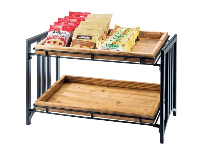 Cal Mil Mission 2 Tier Stand, 23 x 13 x 15 inch -- 1 each.