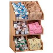 Cal Mil Bamboo 6 Compartment Condiment Organizer, 10.25 x 6.75 x 16 inch -- 1 each.