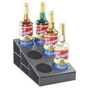Cal Mil Black Classic Three Tier 6 Bottle Organizer, 8.5 x 14.75 x 6.25 inch -- 1 each.