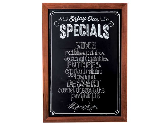 Cal Mil Chalkboard Sign with Pre Printed Header Enjoy Our Specials, 24 x 35 inch -- 1 each.