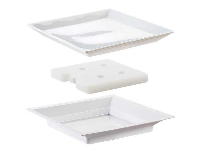 Cal Mil Porcelain Plate Liner Cold Pack Set, 11 x 11 x 1 inch -- 1 each.