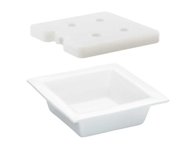 Cal Mil Porcelain Cold Pack and Liner for Bowl, 12 x 12 x 3 inch -- 1 each.