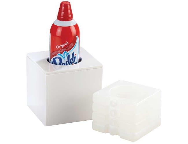 Cal Mil White Whipped Cream Cooler, 5 x 5 x 4.75 inch -- 1 each.