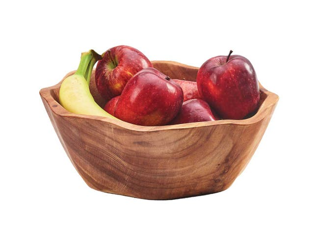 Cal Mil Irregular Wood Accent Bowl, 14 x 14 x 3.25 inch -- 1 each.