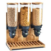 Cal Mil Free Flow Madera 2 Cylinder Cereal Dispenser, 11 x 8.75 x 26.5 inch -- 1 each.