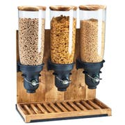Cal Mil Free Flow Madera 3 Cylinder Cereal Dispenser, 19.25 x 9.75 x 26.5 inch -- 1 each.