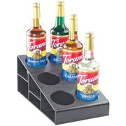 Cal Mil Black Durable ABS Classic 3 Tier Syrup Bottle Organizer, 4.5 x 15 x 6.5 inch -- 1 each.