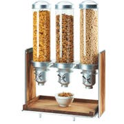 Cal Mil Mid Chrome Century 3 Section Cereal Dispenser, 19.5 x 12 x 28.5 inch -- 1 each.