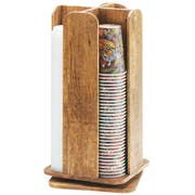 Cal Mil Madera Reclaimed Wood Revolving Cup and Lid Organizer, 9 x 9 x 18.5 inch -- 1 each.