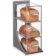 Cal Mil Oak Ashwood Gray 3 Tier Bread Case, 6.5 x 13 x 20.25 inch -- 1 each.