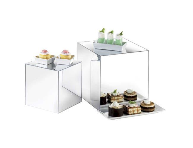 Cal Mil Acrylic Mirror Cube Riser, 12 x 12 x 12 inch -- 1 each.