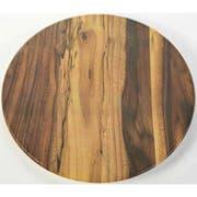 American Metalcraft Acacia Melamine Serving Board, 17 1/4 inch Dia. -- 8 per case.
