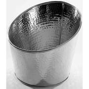 American Metalcraft Hammered Stainless Steel Angled Beverage Tub, 8 inch Dia. -- 24 per case.