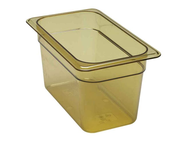 H Pan One Fourth Size Food Storage Pan, Amber, 6 3/8 x 10 7/16 x 6 inch -- 1 each.