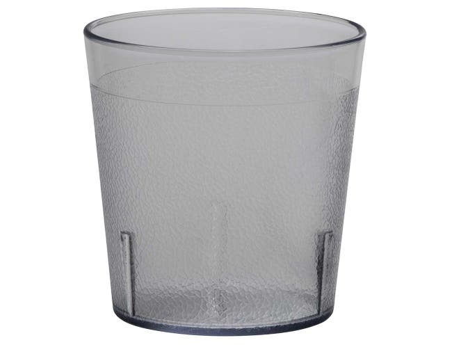 Cambro Colorware Pebbled Tumbler, Clear, 9 Ounce -- 72 per case.