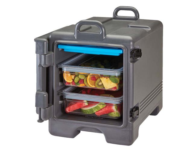Cambro Dark Brown Ultra Pan Carrier - Insulated Food Server, 17 x 25 3/4 x 22 3/8 inch -- 1 each.