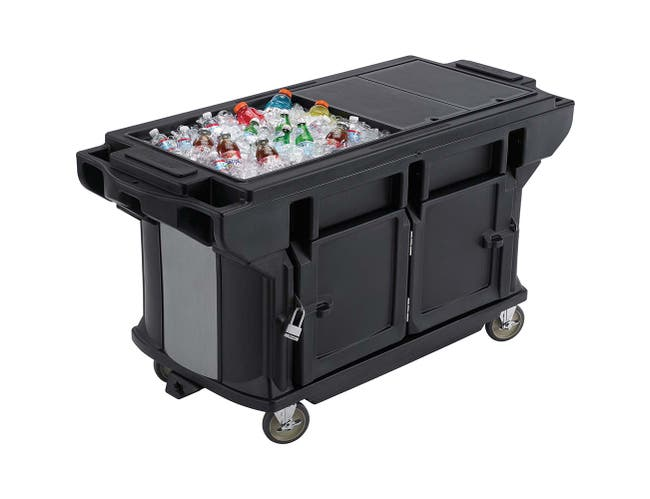Cambro Ultra Series Navy Blue Versa Work Table with Storage and Standard Casters, 5 Feet -- 1 each.