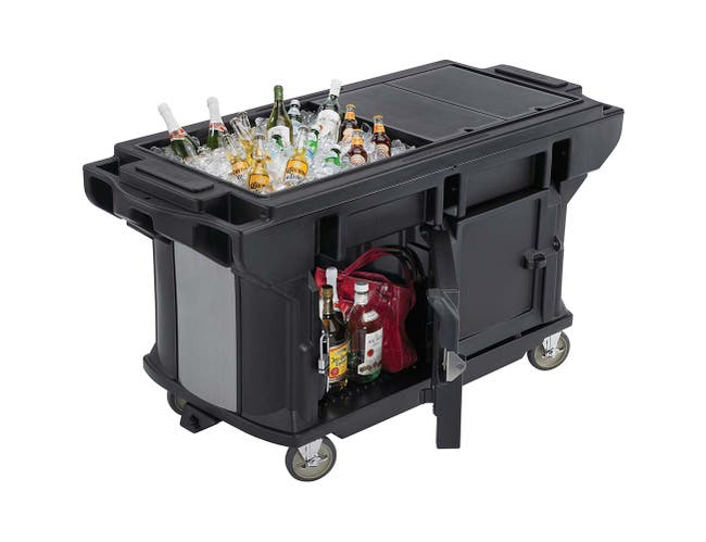 Cambro Ultra Series Hot Red Versa Work Table with Storage and Heavy Duty Casters, 5 Feet -- 1 each.