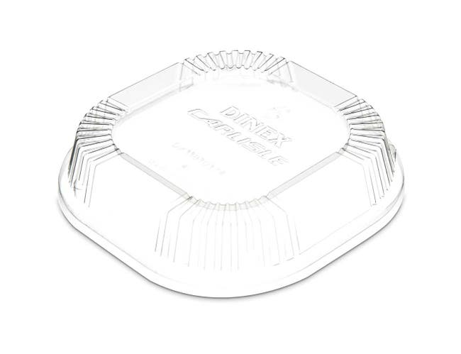 Dinex Polystyrene Clear Dome Dish Lid Only -- 1000 per case.