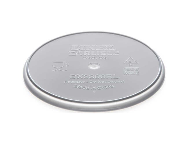 Dinex Polypropylene Gray Turnbury Reusable Lid Only -- 250 per case.