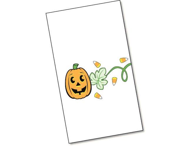 Dinex Jack O Lanterns Design 2 Ply Decorative Paper Holiday  Dinner Napkin, 15 x 17 inch -- 100 per case.