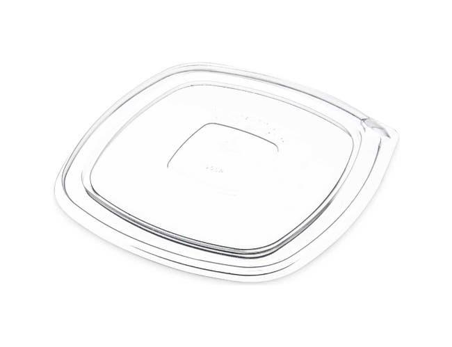 Dinex Polystyrene Clear Flat Lid -- 500 per case.