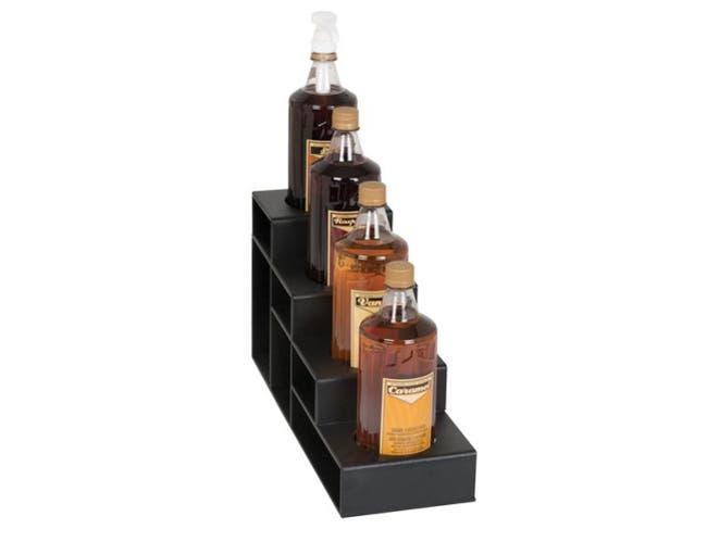 Dispenser Rite Black Polystyrene Four Section Countertop Bottle Holder, 9 1/8 x 6 x 17 inch -- 1 each.