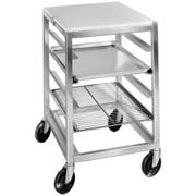 Channel Manufacturing Aluminum Single Section Angle Pan Slide All Welded Mobile Work Table with 3 inch Spacing, 34.5 x 20.5 x 26 inch -- 1 each.