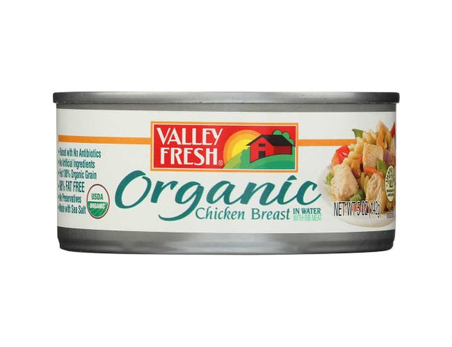 Valley Fresh Organic Chicken Breast in Water, 5 Ounce -- 12 per case.