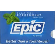 Epic Dental Sweetened Peppermint Xylitol Gum - 12 per pack -- 12 packs per case.